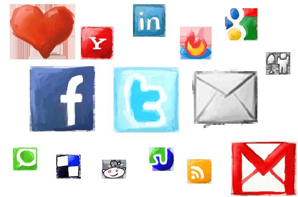 Several social media logos